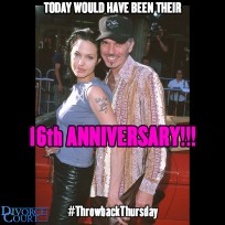 Billy Bob Thornton & Angelina Jolie were married on May 5th, 2000. They divorced in 2003.