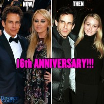 Ben Stiller & Christine Taylor married on May 13th, 2000