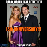 Brandi Glanville married Eddie Cibrian on May 12th, 2001. They divorced in 2010