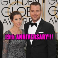 Chris O'Donnell and wife Caroline were married on April 19, 1997