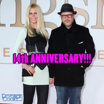 Claudia Schiffer & Matthew Vaughn married on May 25th, 2002