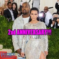 Kim Kardashian & Kanye West married on May 24, 2014