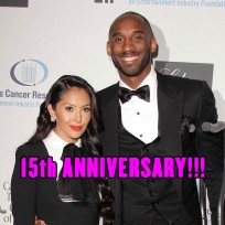 Kobe Bryant and wife Vanessa were married on April 18, 2001