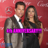 Matthew McConaughey & Camila Alves married on June 9, 2012