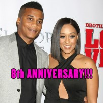 Tia Mowry & husband Cory Hardrict were married on April 20, 2008