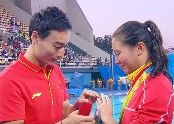 Chinese-Olympian-Engagment