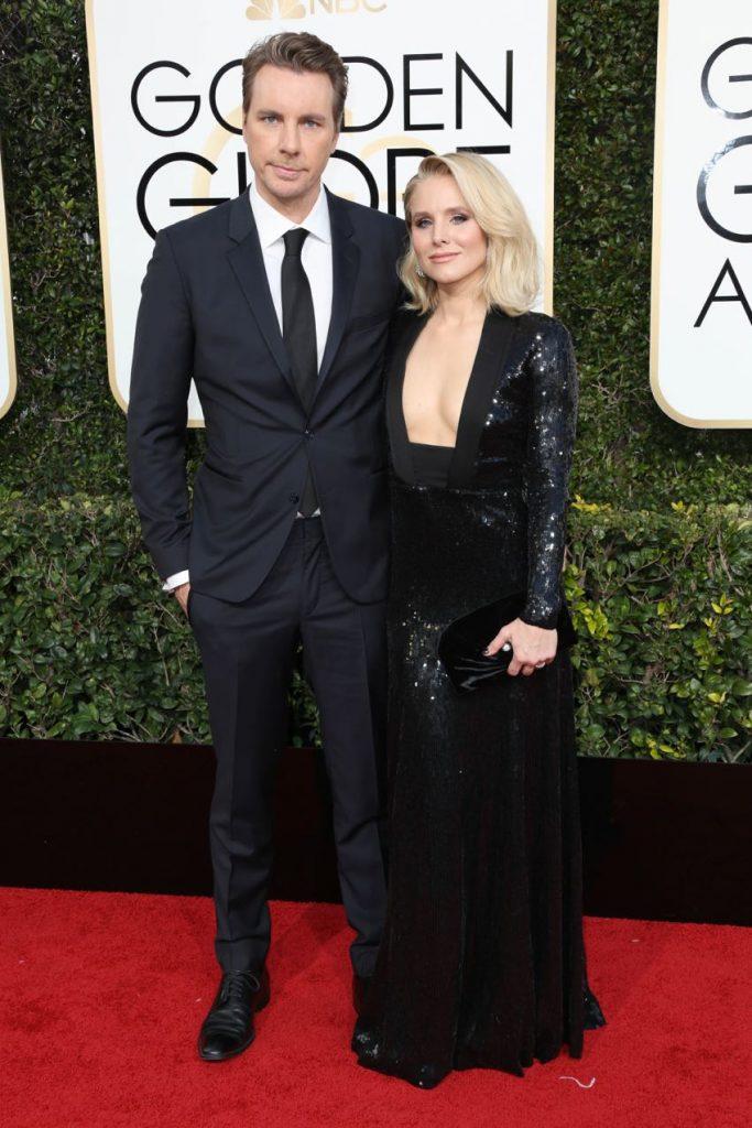 Dax Shepard and Kristen Bell 74th Annual Golden Globe Awards