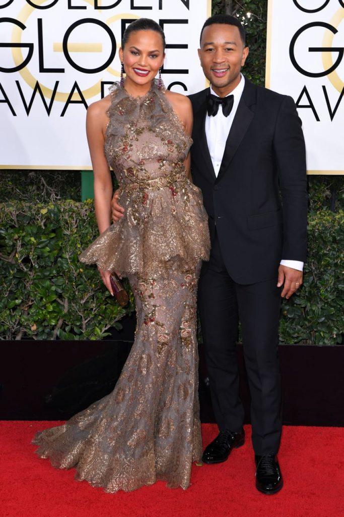 Chrissy Teigen and John Legend 74th Annual Golden Globe Awards