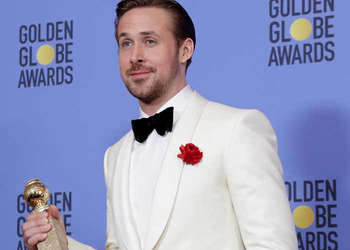 Ryan Gosling at Golden Globes 2017